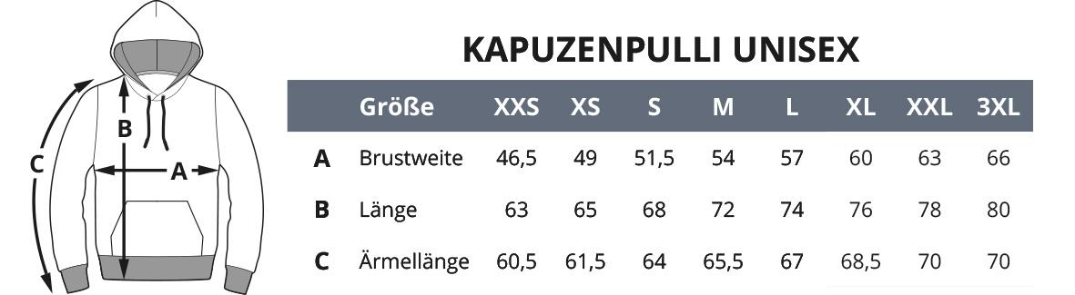 Groessen Unisex Kapuzenpulli Druckmandl