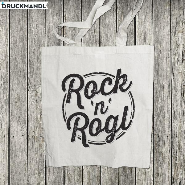 """Baumwolltasche """"Rock`n`Rogl"""""""
