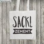 Baumwolltasche Sackl Zement