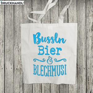 Baumwolltasche Bussln Bier & Blechmusi