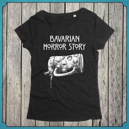 "Bayrisches Damenshirt ""bavarian horror story"""