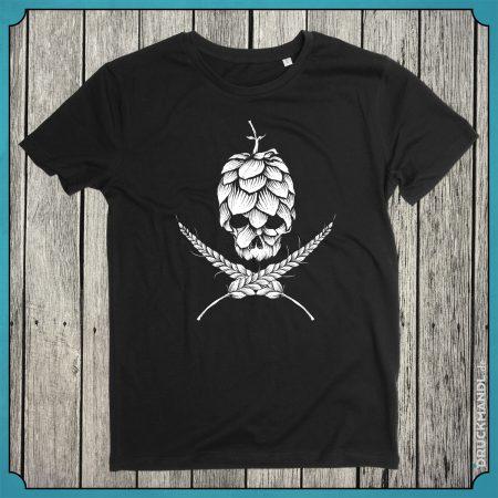 Bayrisches Shirt Hopfen und Malz Totenkopf