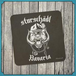 Bayrischer Untersetzer / Bierfilzl Sturschädl Bavaria
