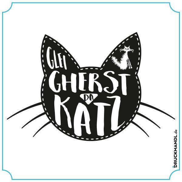 bayrisches Shirt glei gherst da Katz