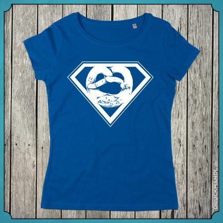 T-Shirt Superbrezn royal blau Damen
