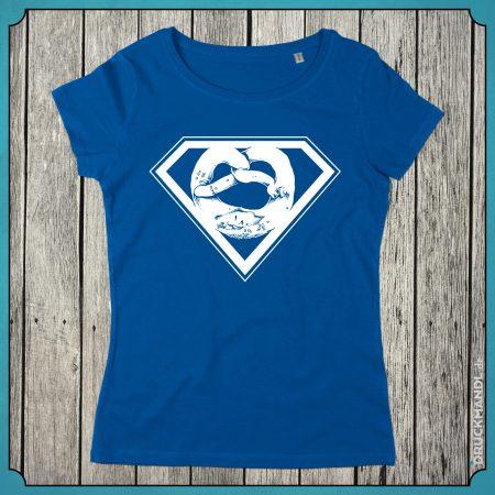 T-Shirt Superbrezn royal blau Damen
