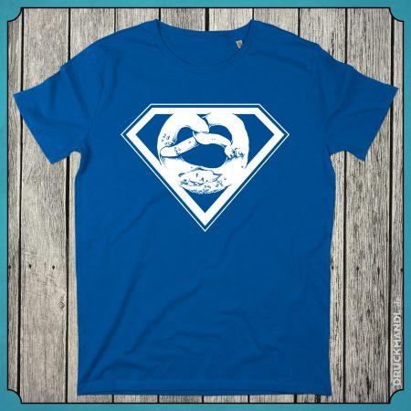 T-Shirt Superbrezn royal blau Herren