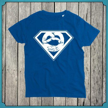 T-Shirt Superbrezn royal blau Kids