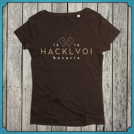 T-Shirt Hacklvoi braun Damen