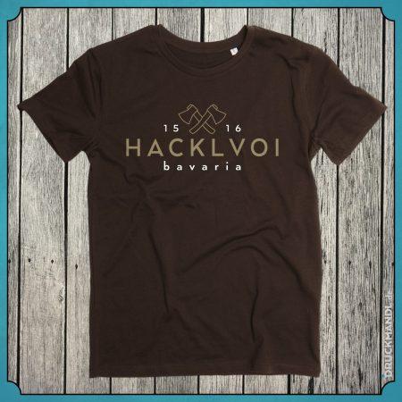 T-Shirt Hacklvoi braun Herren