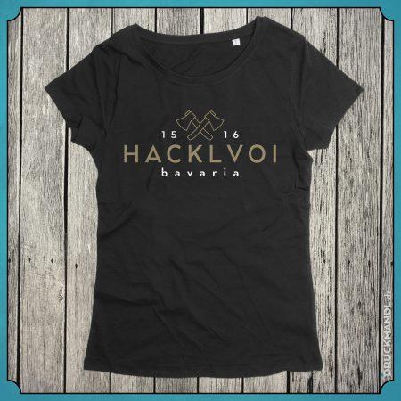 T-Shirt Hacklvoi schwarz Damen