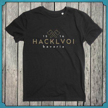 T-Shirt Hacklvoi schwarz Herren