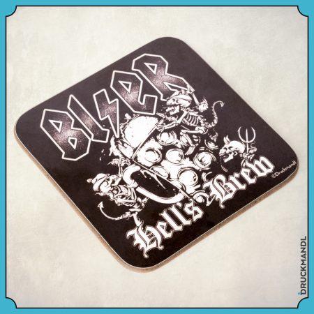 Untersetzer Bierfilzl BI/ER – Hell´s Brew