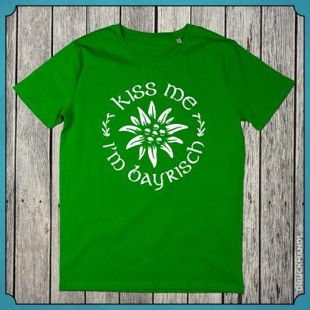 T-Shirt kiss me im bayrisch Herren