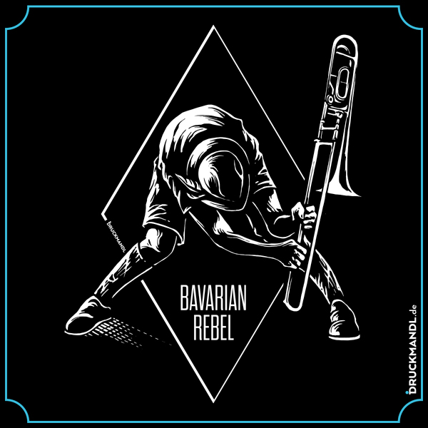 bavarian rebel - bayrisches Shirt Druckmandl