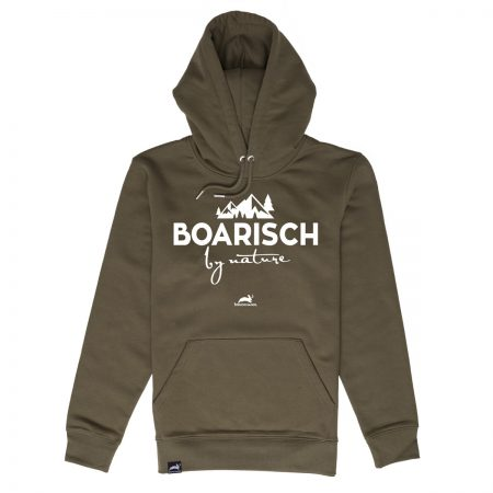 Boarisch by nature - bayrischer Kapuzenpulli