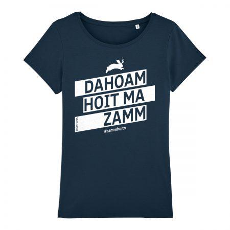 Bayerisches Shirt Dahoam hoit ma zamm