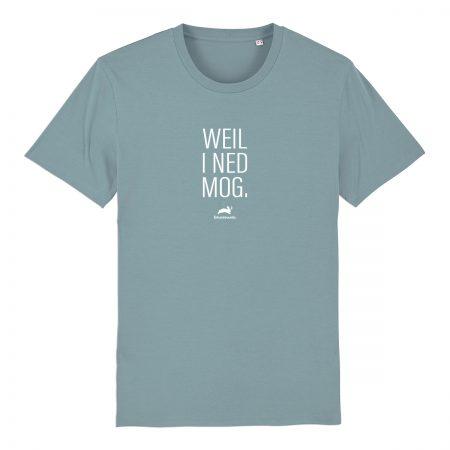 T-Shirt - Weil i ned mog - blau